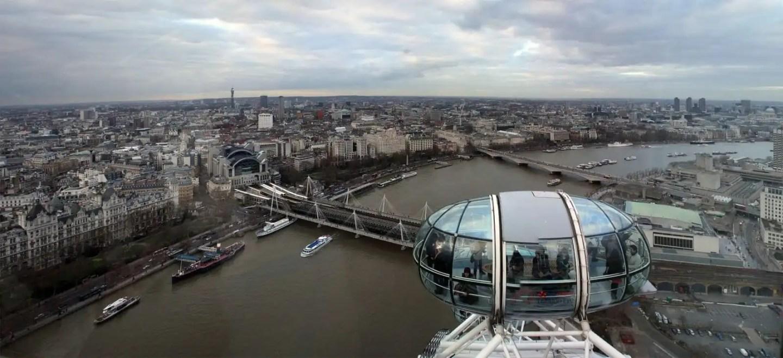 Birds eye view of the London Eye