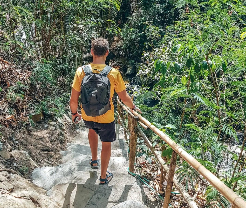 The stairs at Munduk Waterfall