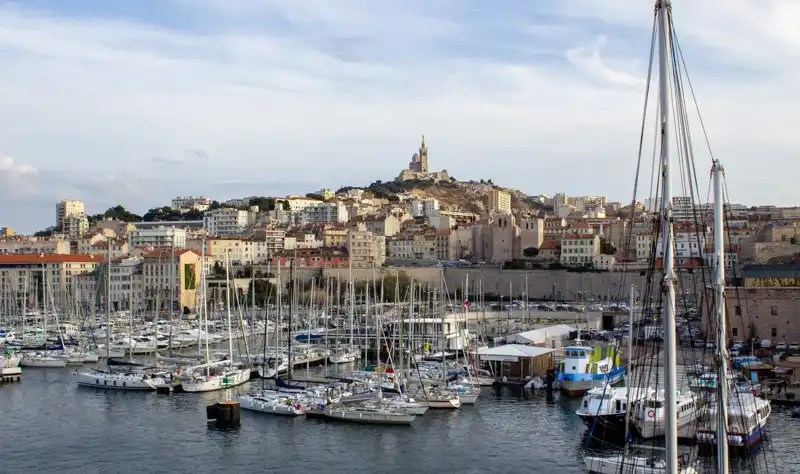Landmarks in France - Notre Dame in Marseilles