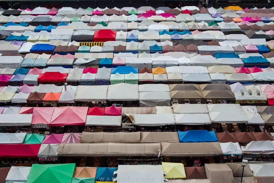 Landmarks in Thailand - Rod Fai market Bangkok