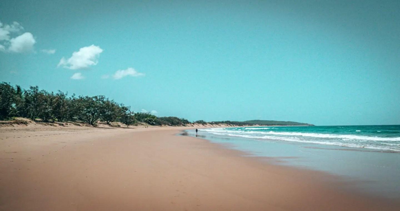 Agnes Water beach between Cairns and Brisbane