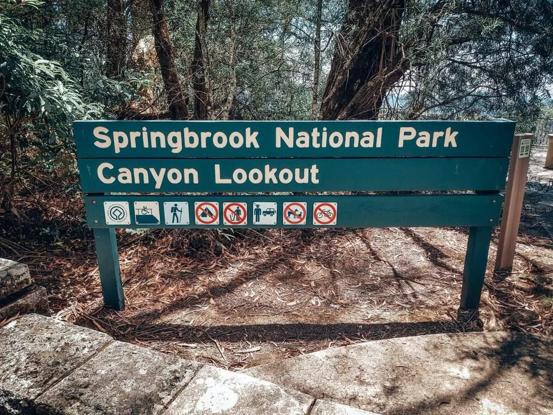 Canyon lookout, Springbrook National Park