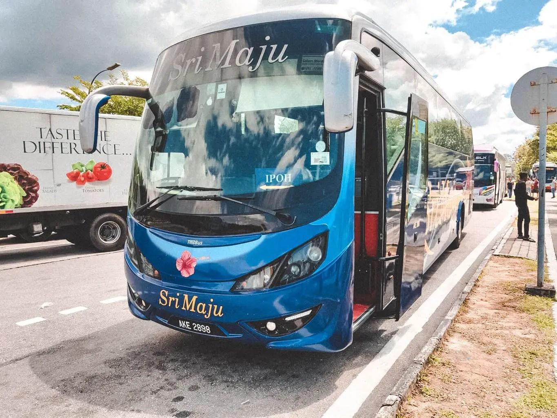 Bus from Kuala Lumpur to Ipoh