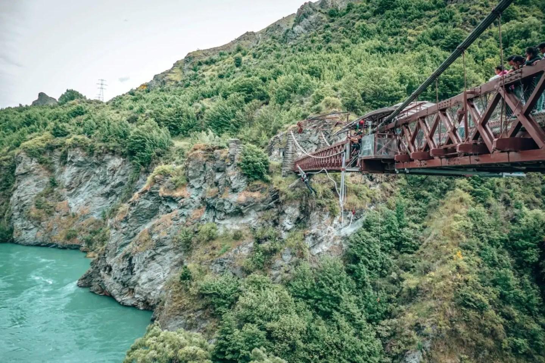 Bungy jump near Queentown at Karawau Bridge