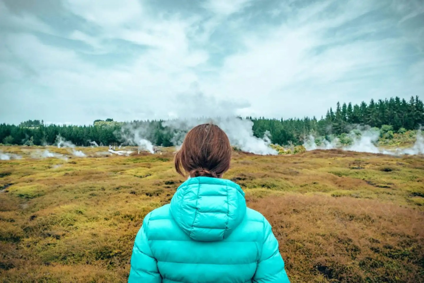 Craters of the Moon in Taupo, New Zealand