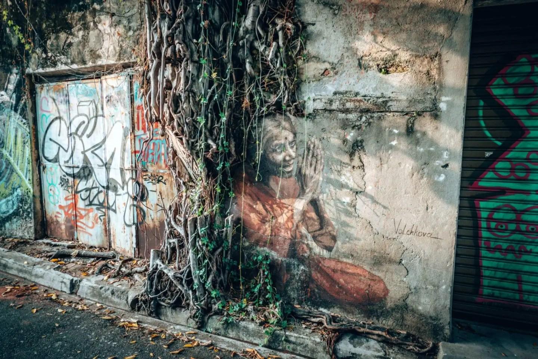 Penang Street Art Map - Indian Woman