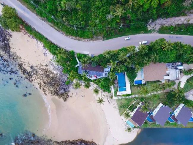 Koh Lanta beach from above