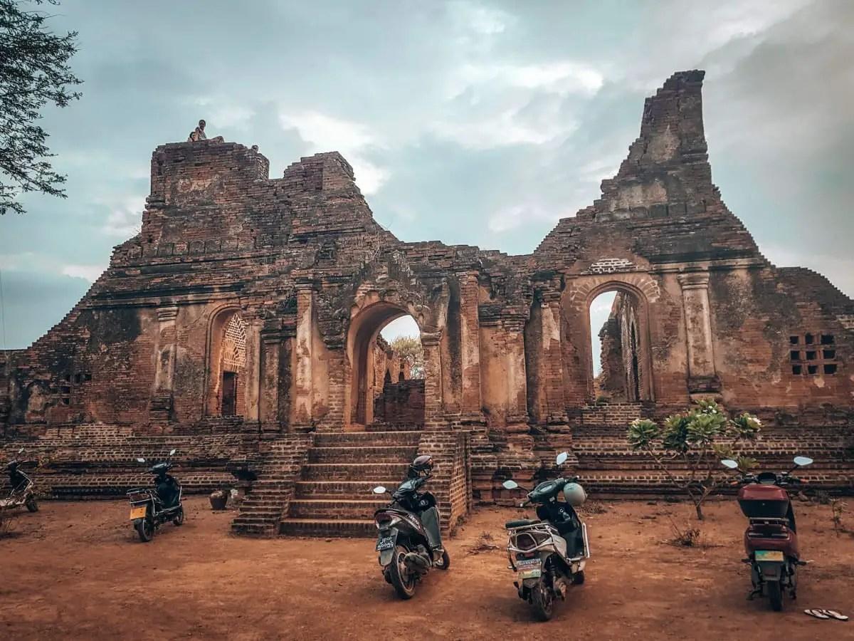 E bikes at Bagan temple