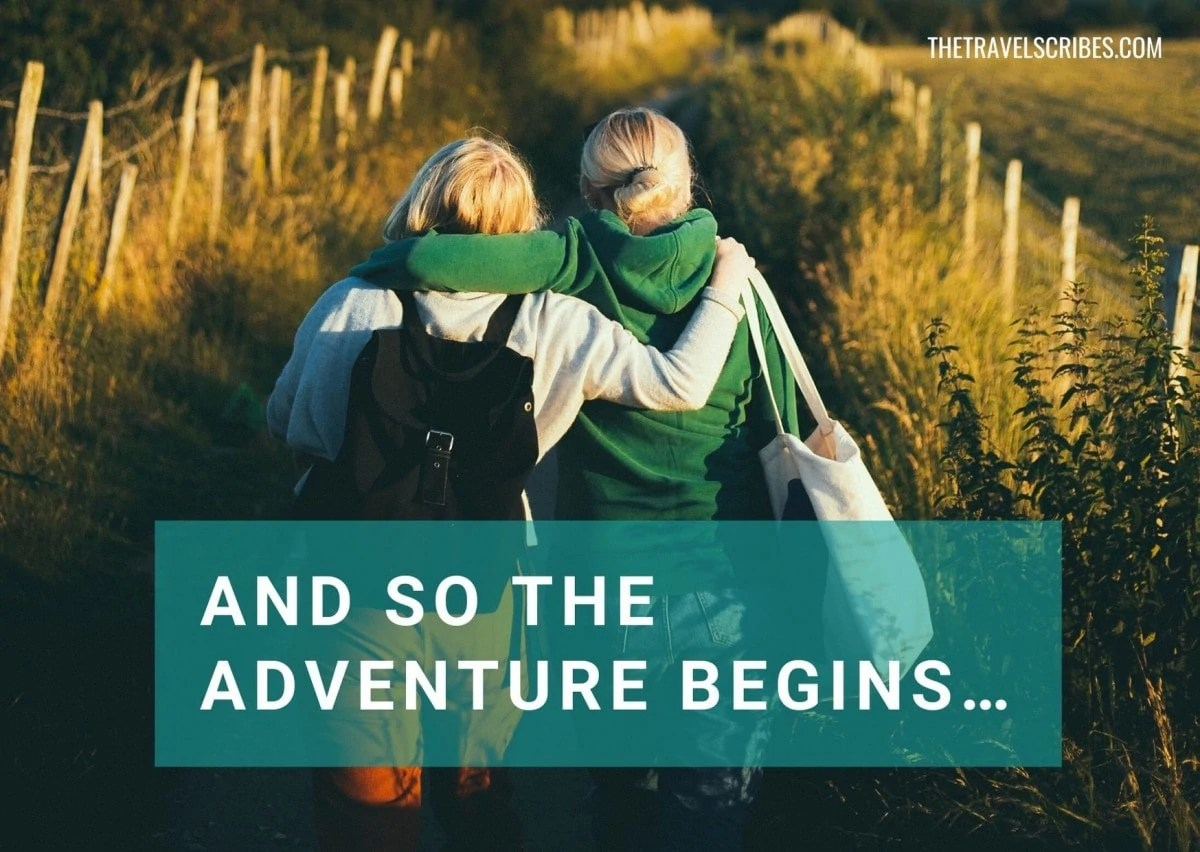 Caption for friends - and so the adventure begins