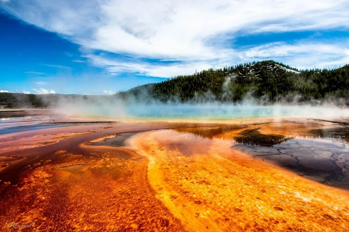Famous landmarks in USA - Yellowstone National Park