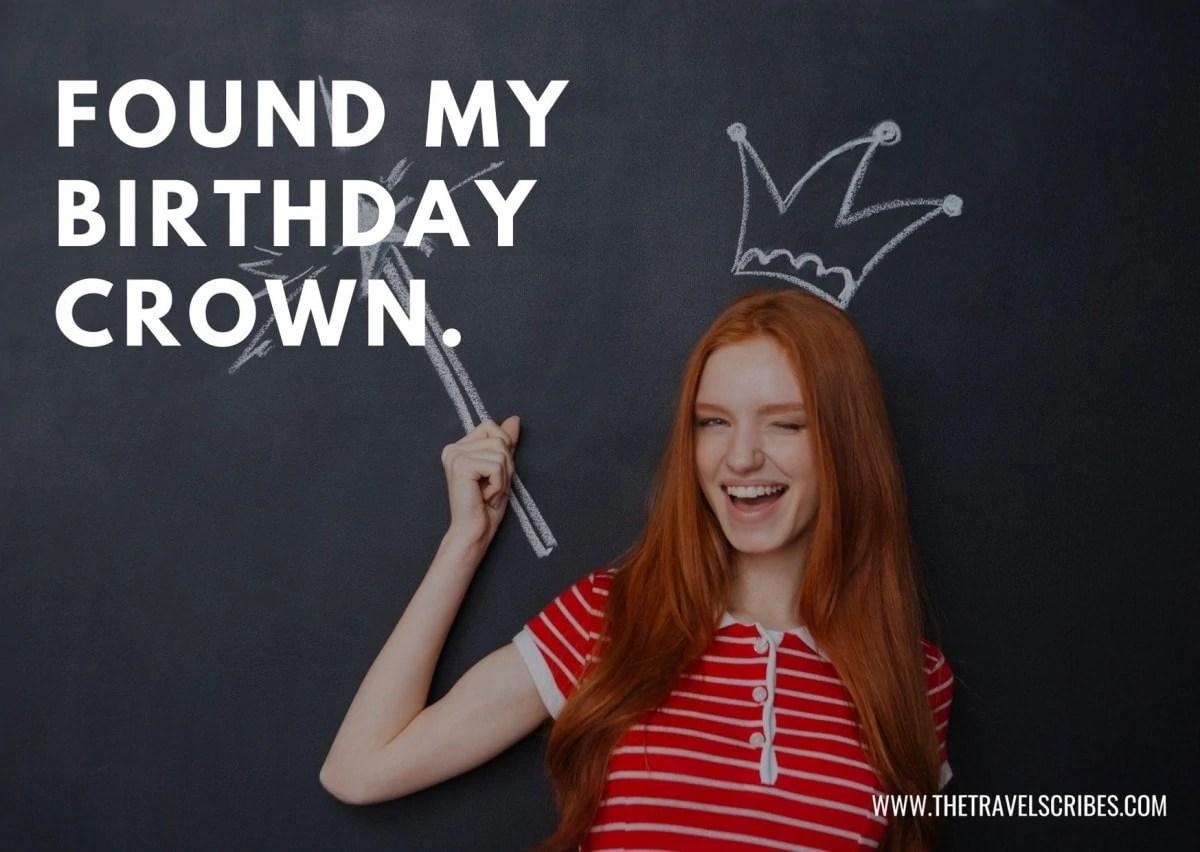 Selfie birthday captions