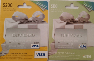 visa gift cards from staples that load to bluebird at walmart