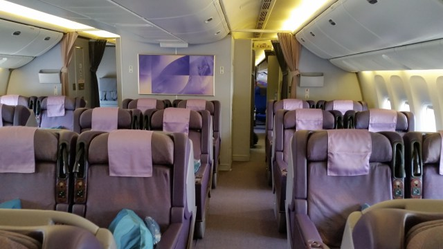 singapore airlines business class cabin