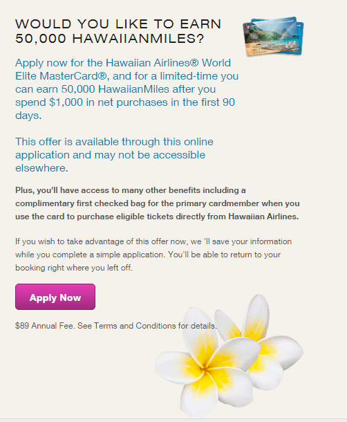 How to Find the Hawaiian Airlines Credit Card 50000 Miles Signup Bonus