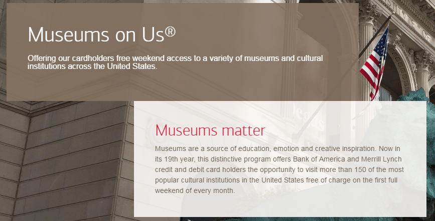 Bank of America Free Museum Days for 2017