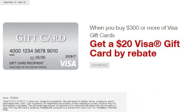 stapleseasyrebates on visa gift card purchases march 2017