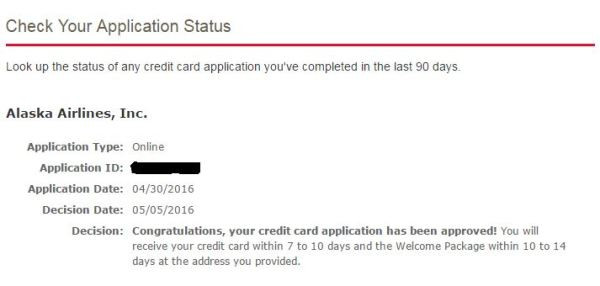 how to check your bank of america credit card application status