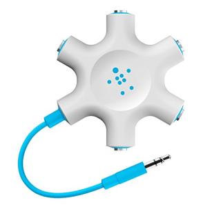 Belkin Rockstar Multi Headphone Splitters (Blue) are travel stocking stuffers