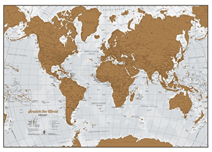 Scratch The World map is one of the best gifts for travel lovers and travel enthusiasts