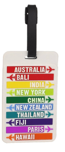 luggage tag, a great stocking stuffer for travellers