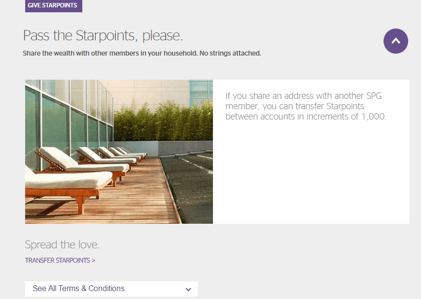 Can You Transfer Starpoints to Another SPG Member?