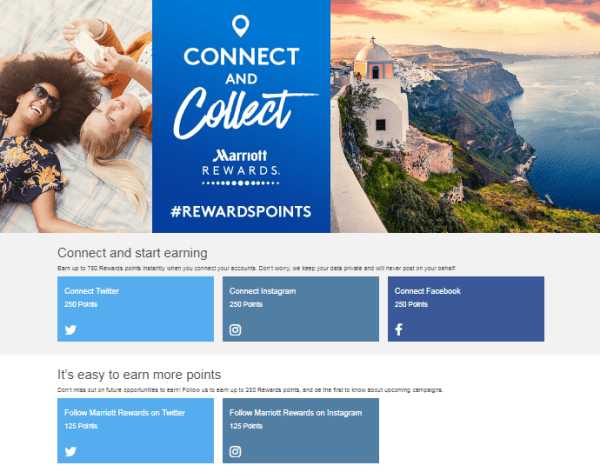 45000 free Marriott Rewards points #RewardsPoints social media promotion