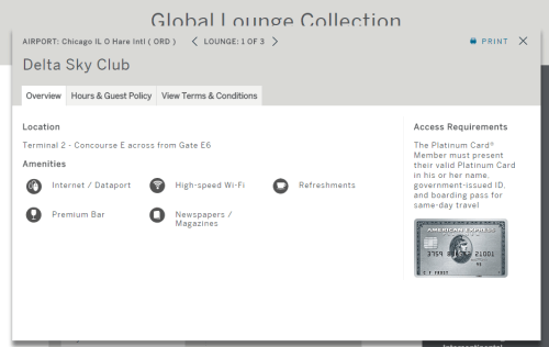 amex platinum card lounge access
