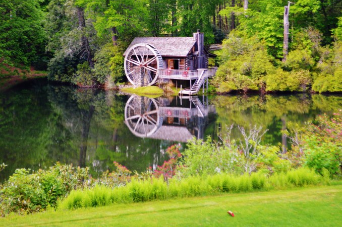The Honeymoon Cottage at High Hampton Inn & Country Club can be seen from hole 18 on the golf course.