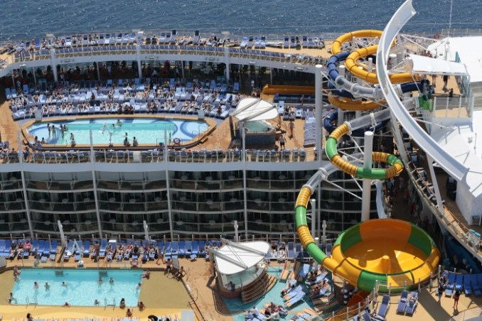 Aerial view of Harmony of the Seas