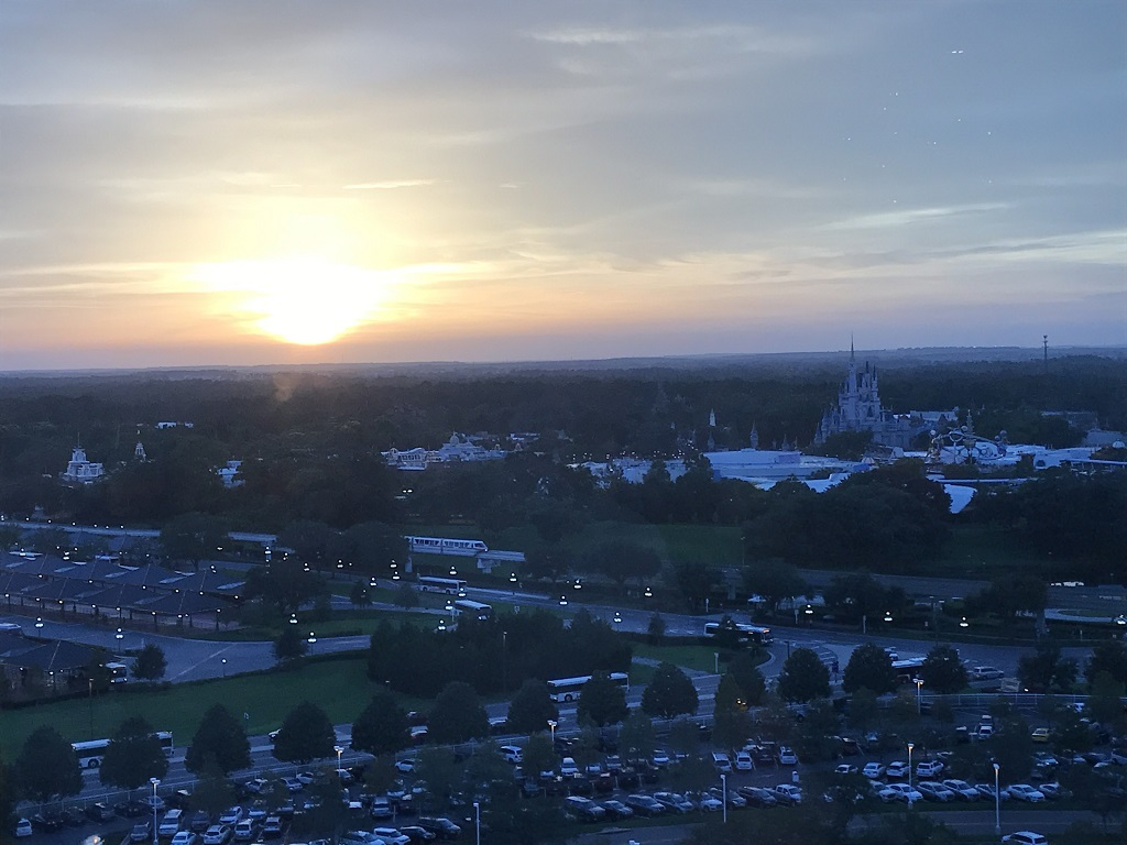 Disney Tips - Sunset over Magic Kingdom