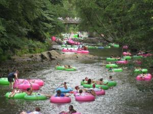 The beautiful Chattahoochee River winds through Helen and the surrounding areas of White County providing a place to cool off while continuing the summer fun.