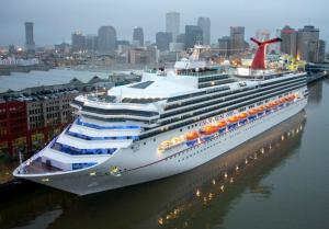 Inaugural sailing - photo courtesy of Andy Newman for Carnival Cruise Line.