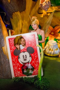 Tinker Bell Greets Magic Kingdom Guests at Town Square Theater