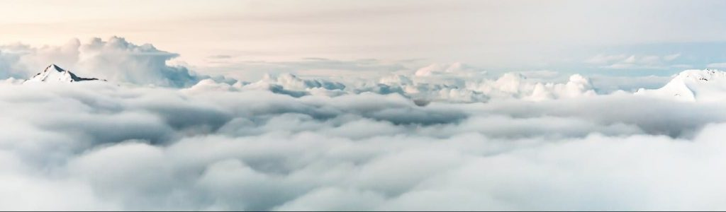 above atmosphere clouds flight