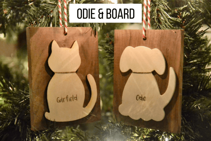 Odie and Board Ornaments