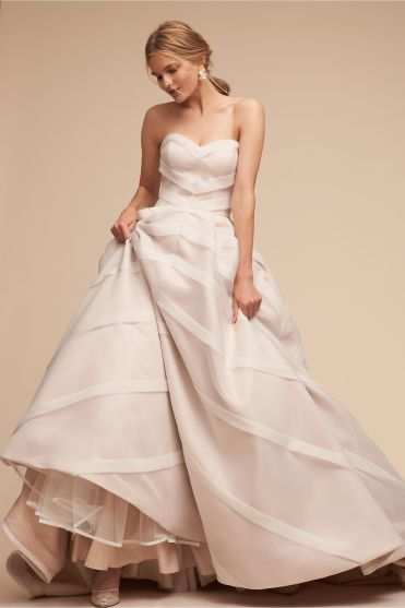 BHLDN vegan wedding dress gown ivory