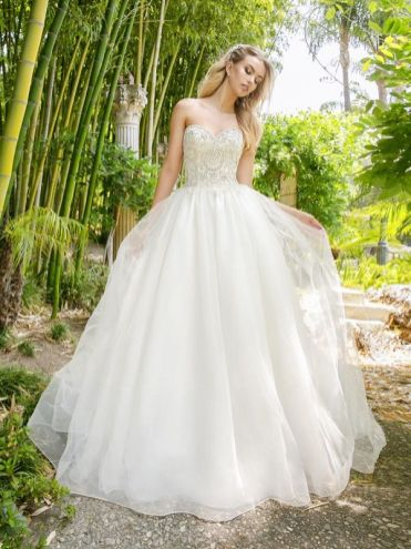 Moonlight vegan silk-free wedding dress H1340