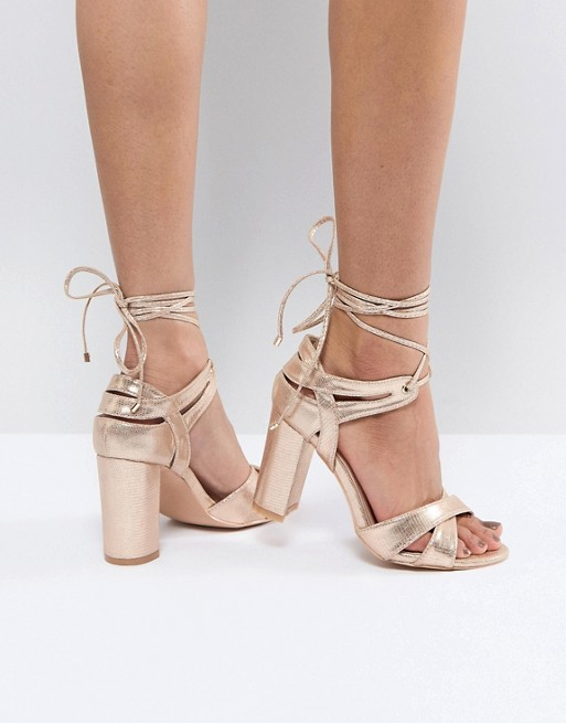 asos vegan non-leather wedding bridal shoes heels-rosegold
