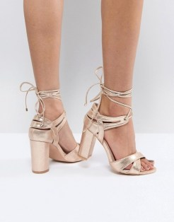 asos vegan non-leather wedding bridal shoes heels-rosegold