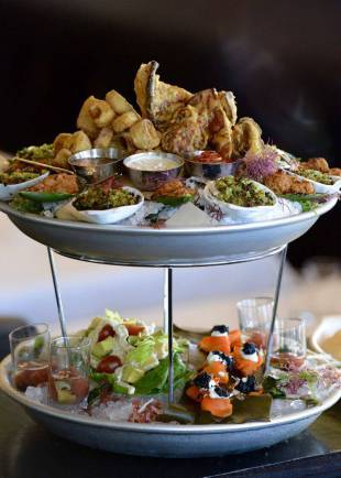 crossroads kitchen vegan wedding catering Seafood-Tower