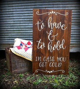 etsy wooden to have and to hold wedding sign for blankets for shelter pets