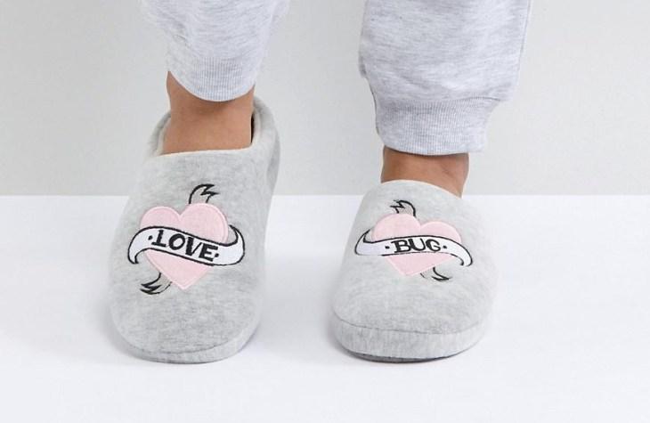 asos vegan slippers love bug