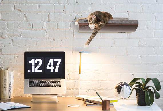 etsy floating shelf cat bed cozy