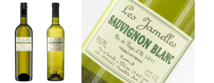 vegan wines les jamelles sauvignon blanc