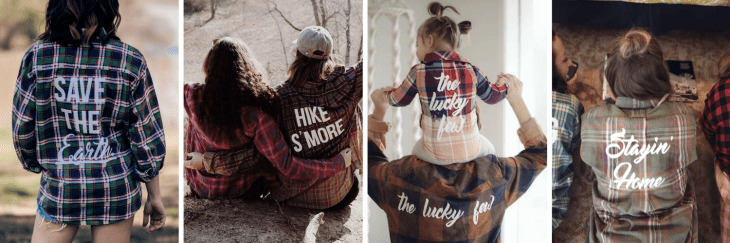 the tree kisser shop my other half flannels hike s'more save the earth