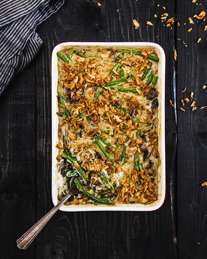 vegan vitamix recipes creamy green bean casserole isa chandra