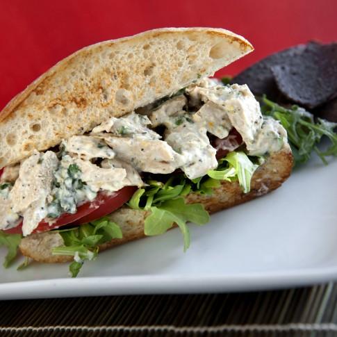 vegan sandwiches chicken salad herb mayo