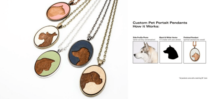 gifts for dog lovers cat lovers etsy pendants