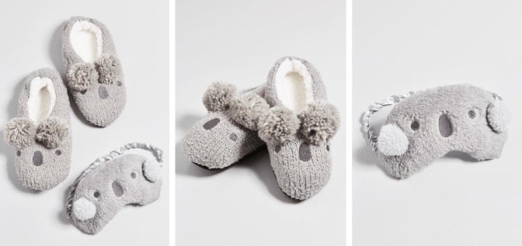 vegan gifts for coworkers under 25 dollars koala slipper set
