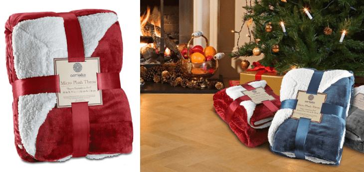 vegan gifts for coworkers under 30 dollars sherpa blanket